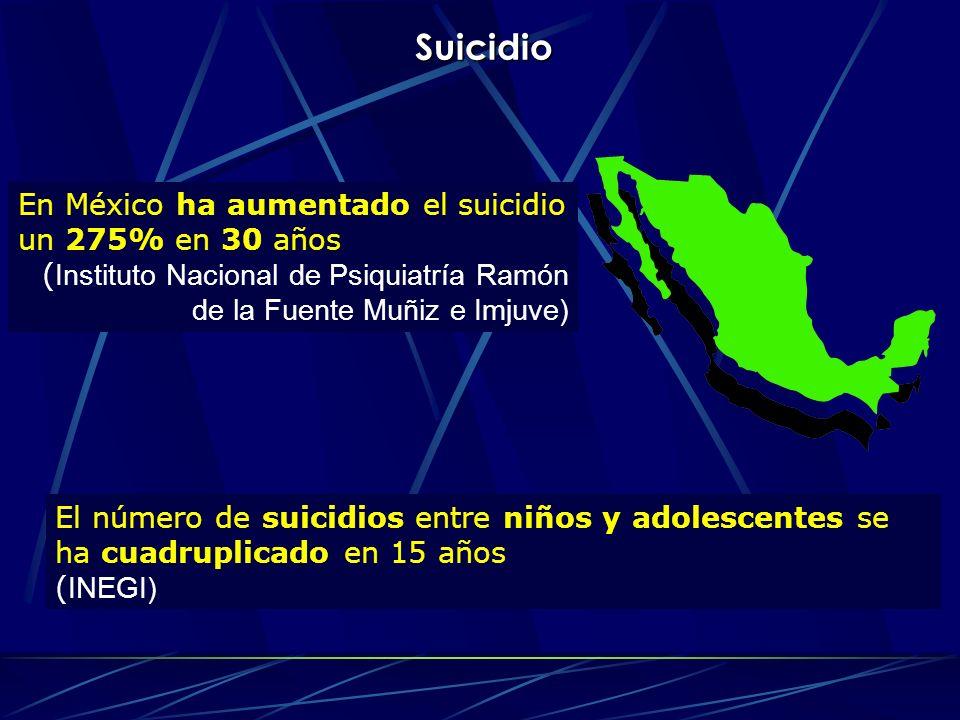 Suicidio En México ha aumentado el suicidio un 275% en 30 años