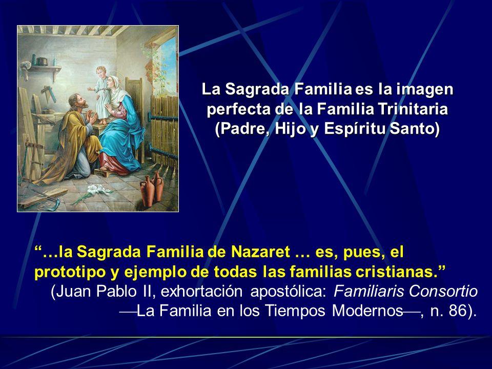 La Sagrada Familia es la imagen perfecta de la Familia Trinitaria (Padre, Hijo y Espíritu Santo)