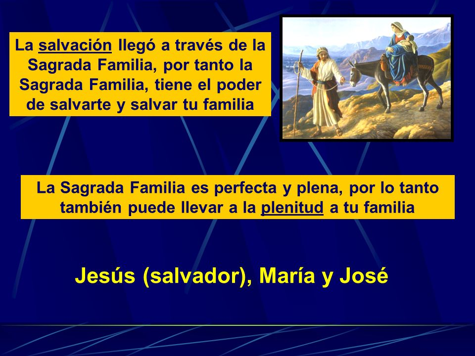 Jesús (salvador), María y José