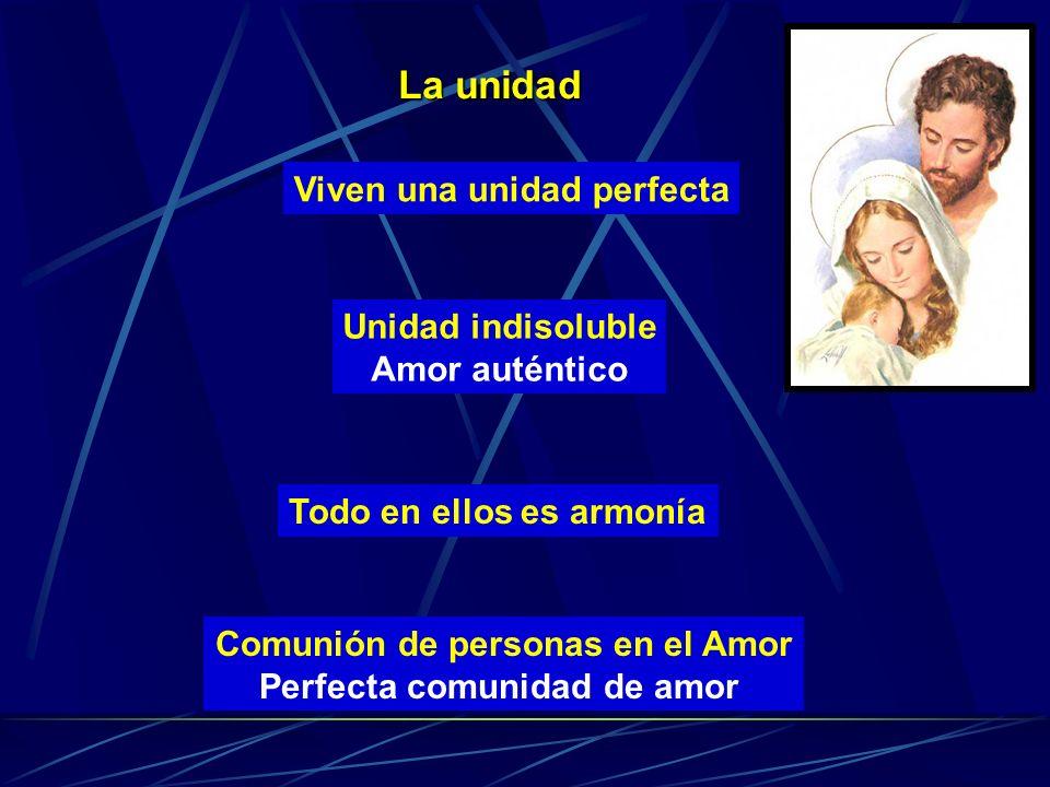 Comunión de personas en el Amor Perfecta comunidad de amor