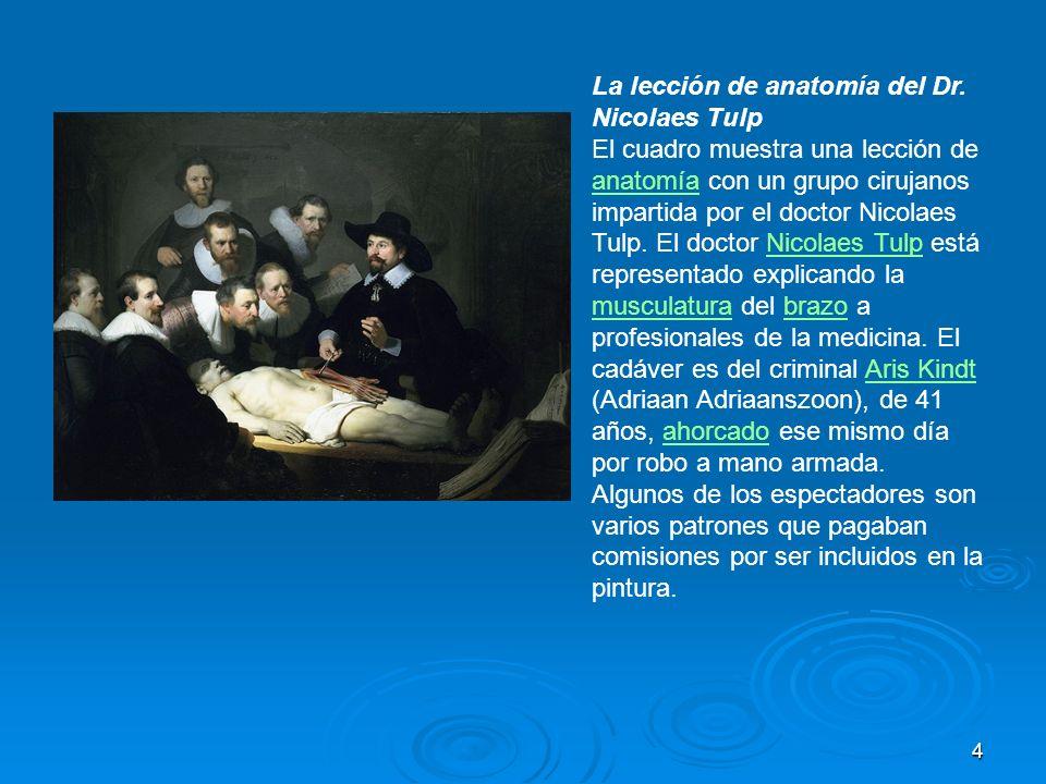 La lección de anatomía del Dr. Nicolaes Tulp