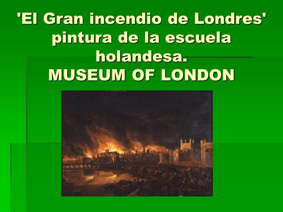 El Gran incendio de Londres pintura de la escuela holandesa