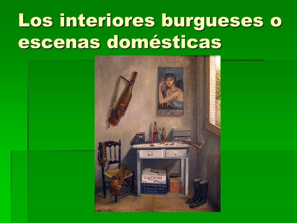 Los interiores burgueses o escenas domésticas