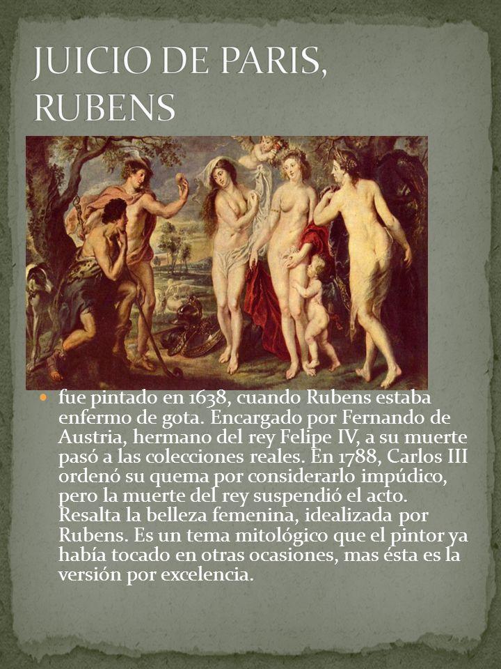 JUICIO DE PARIS, RUBENS