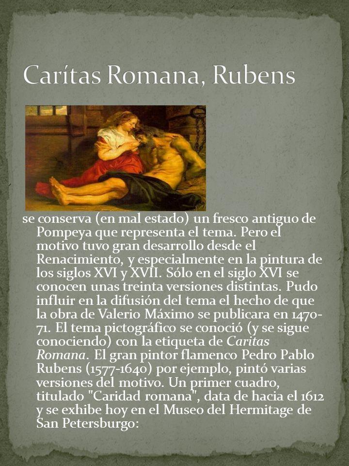 Carítas Romana, Rubens