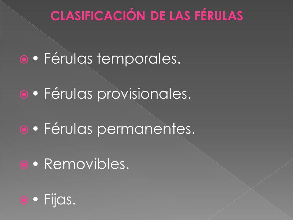 CLASIFICACIÓN DE LAS FÉRULAS