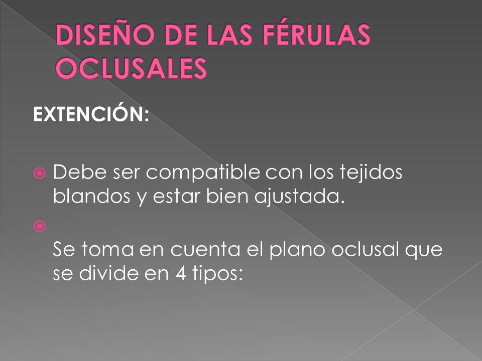 DISEÑO DE LAS FÉRULAS OCLUSALES