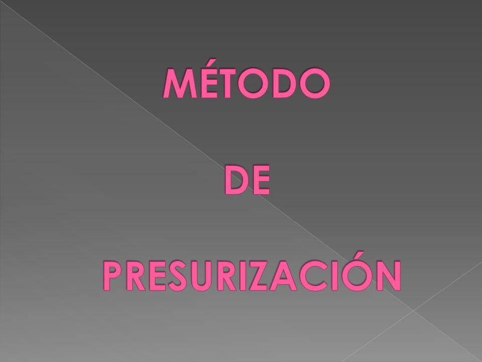 MÉTODO DE PRESURIZACIÓN