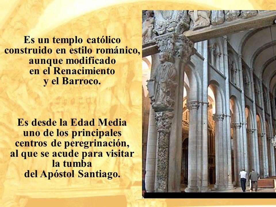 Es un templo católico construido en estilo románico, aunque modificado