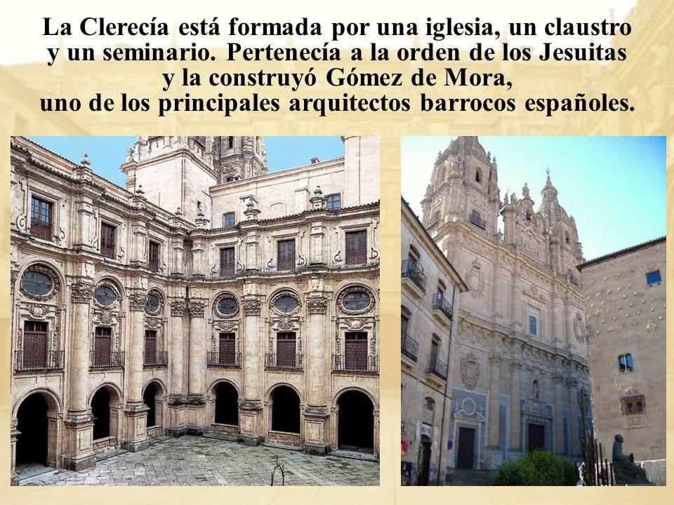 La Clerecía está formada por una iglesia, un claustro