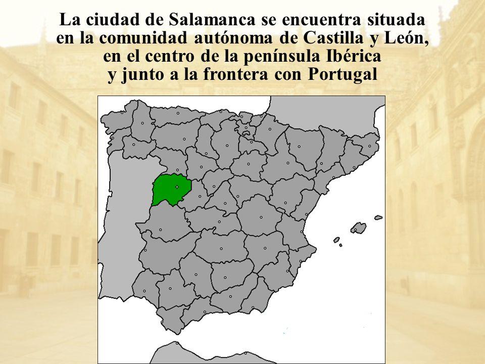 La ciudad de Salamanca se encuentra situada