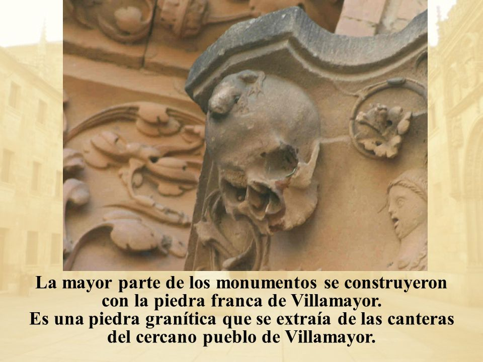 La mayor parte de los monumentos se construyeron