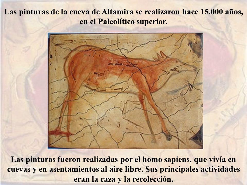 Las pinturas de la cueva de Altamira se realizaron hace 15