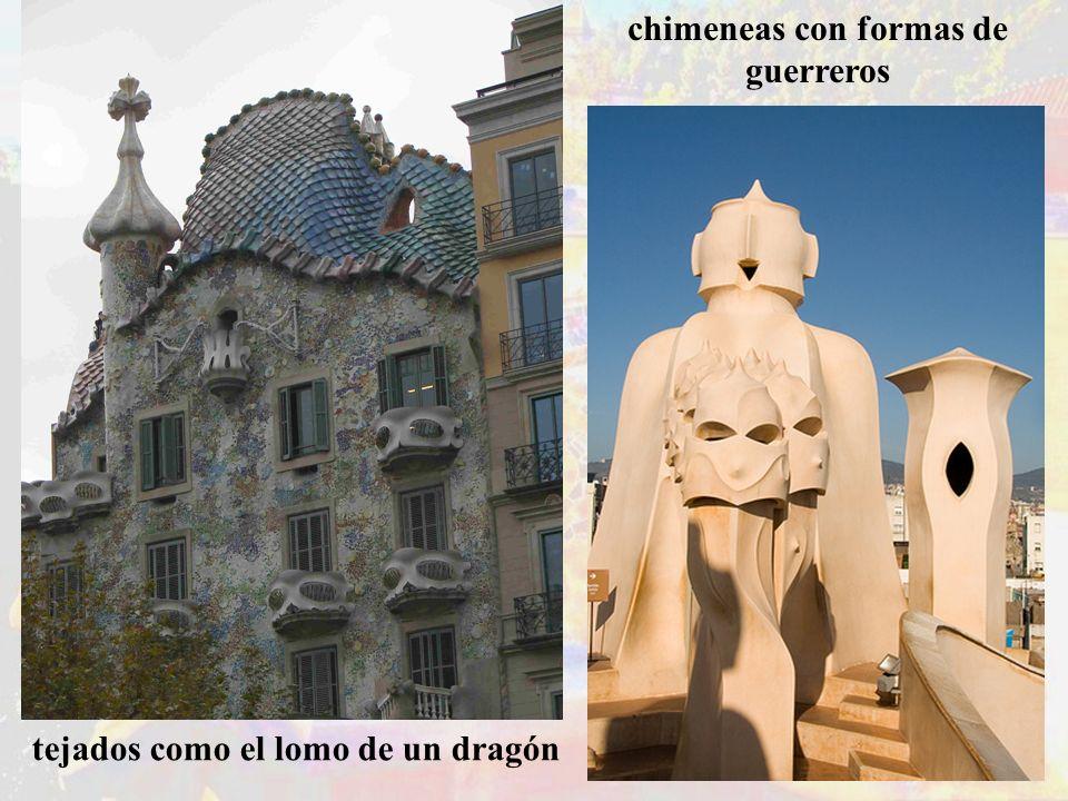 chimeneas con formas de guerreros