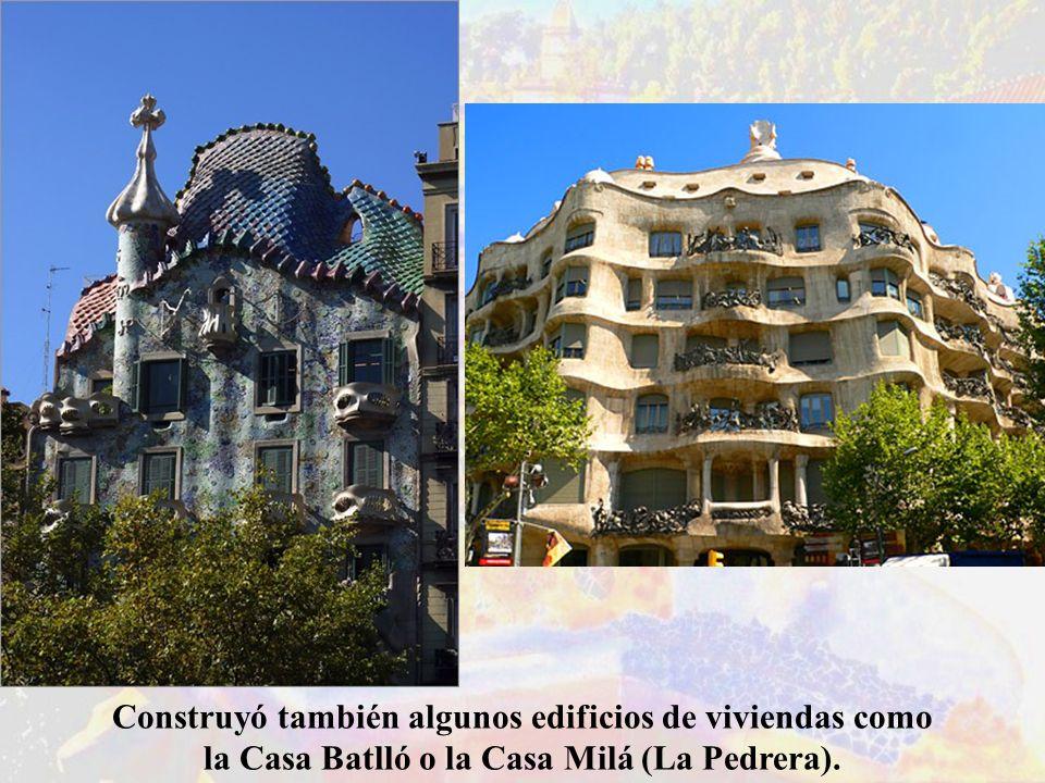 Construyó también algunos edificios de viviendas como