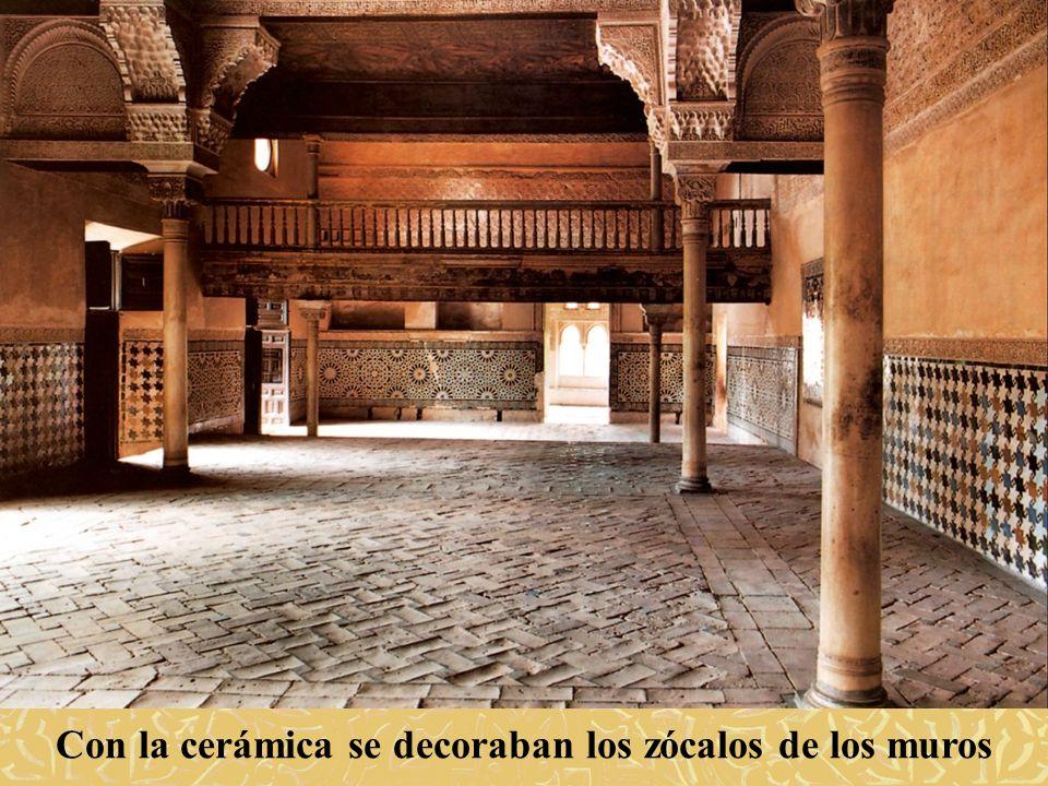 Con la cerámica se decoraban los zócalos de los muros