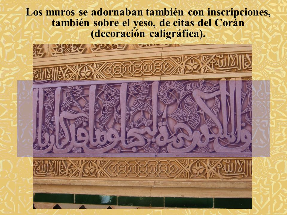 (decoración caligráfica).