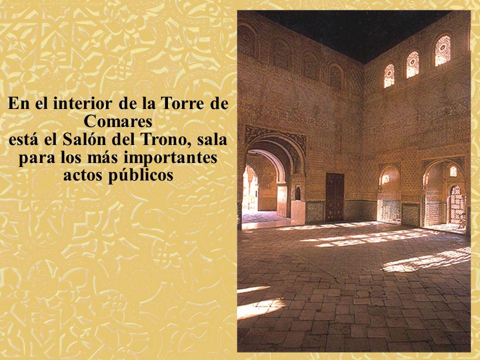 En el interior de la Torre de Comares