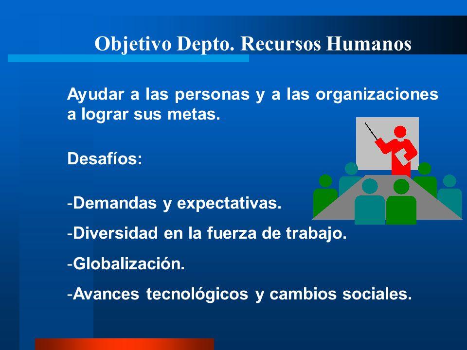 Objetivo Depto. Recursos Humanos