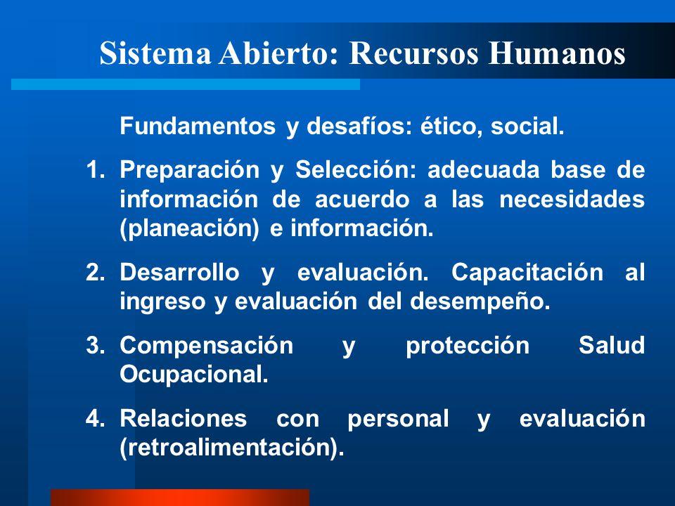 Sistema Abierto: Recursos Humanos