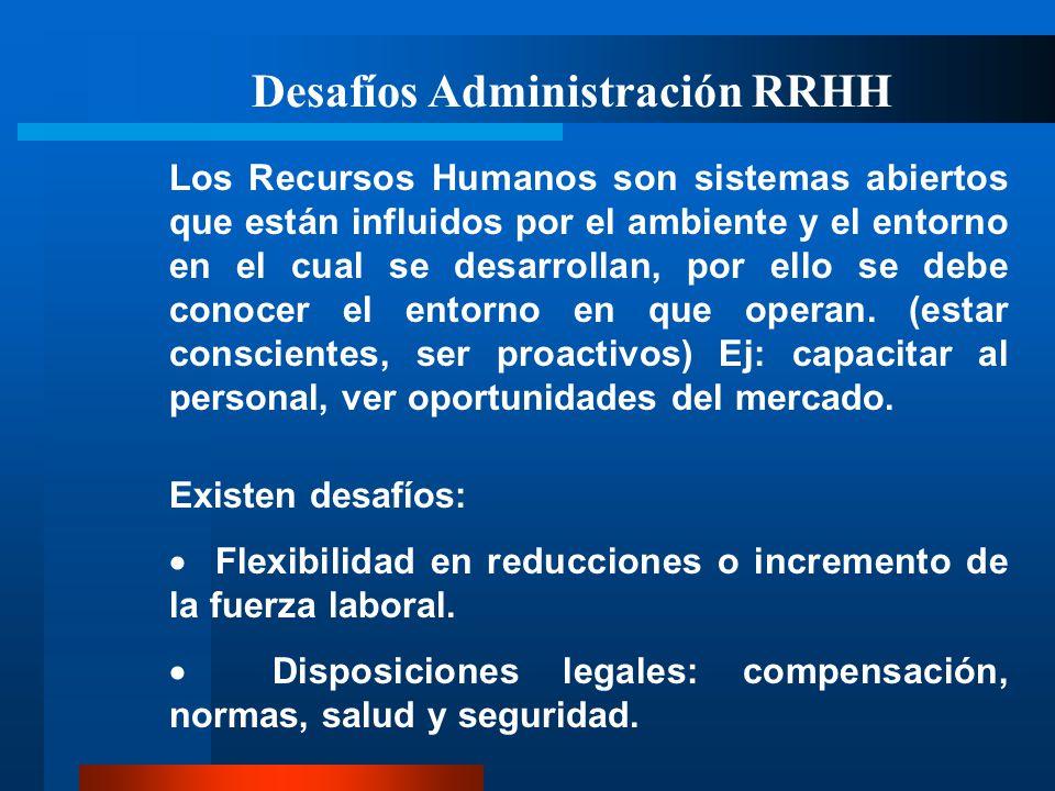 Desafíos Administración RRHH