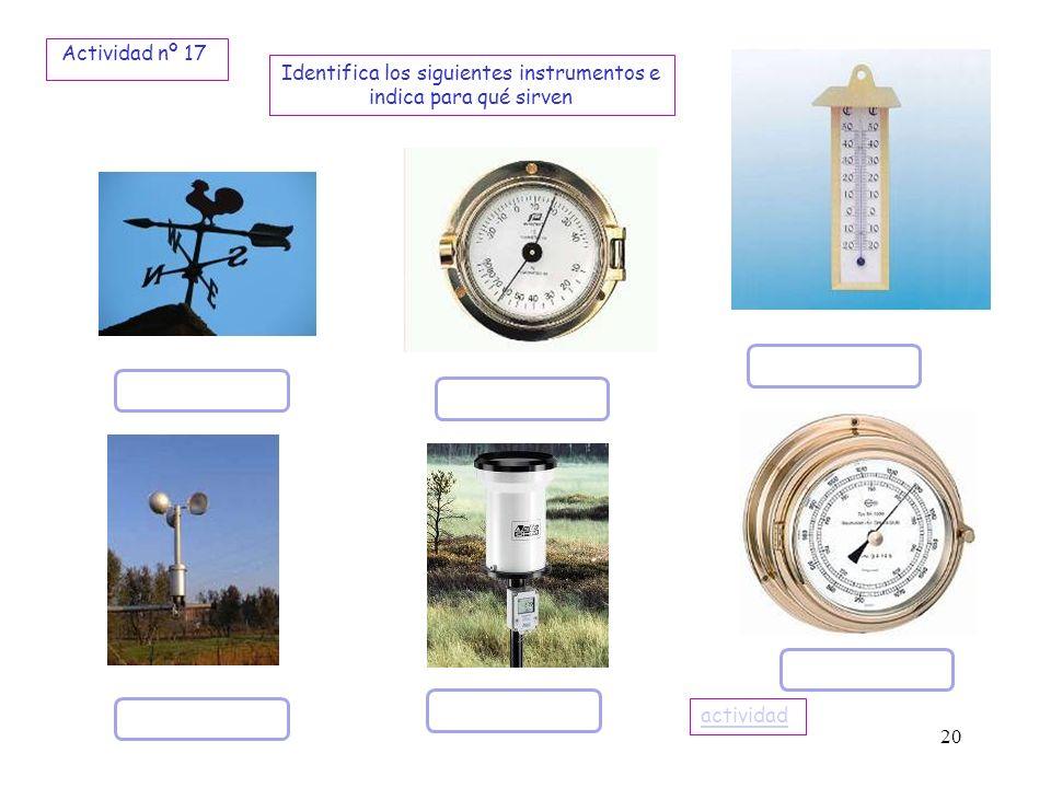Identifica los siguientes instrumentos e indica para qué sirven