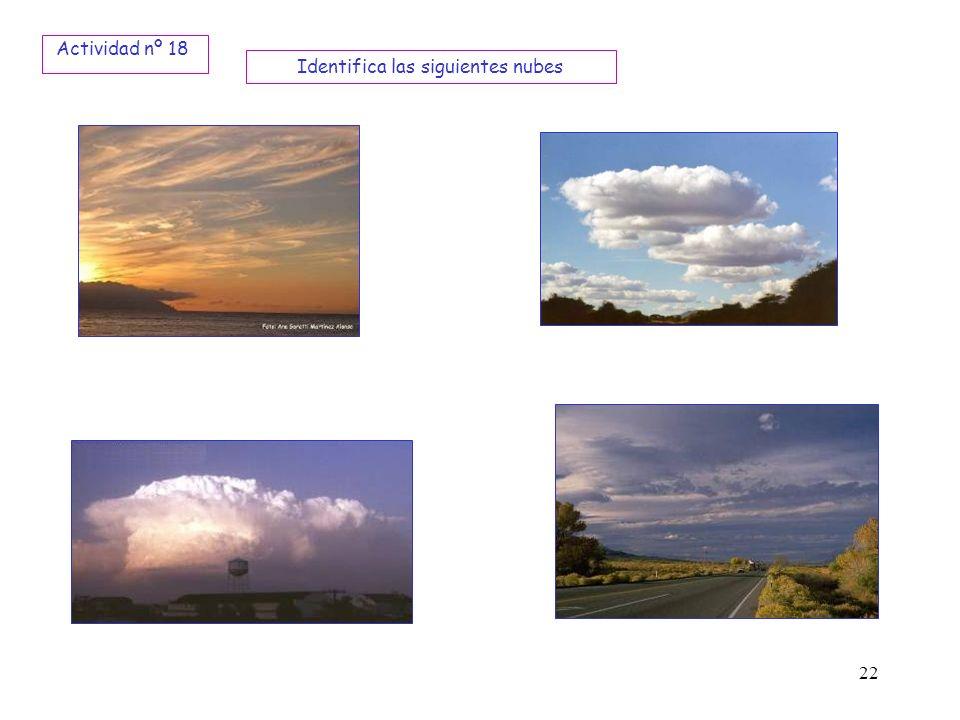 Identifica las siguientes nubes