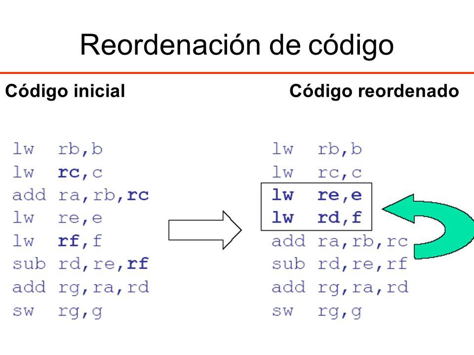 Reordenación de código