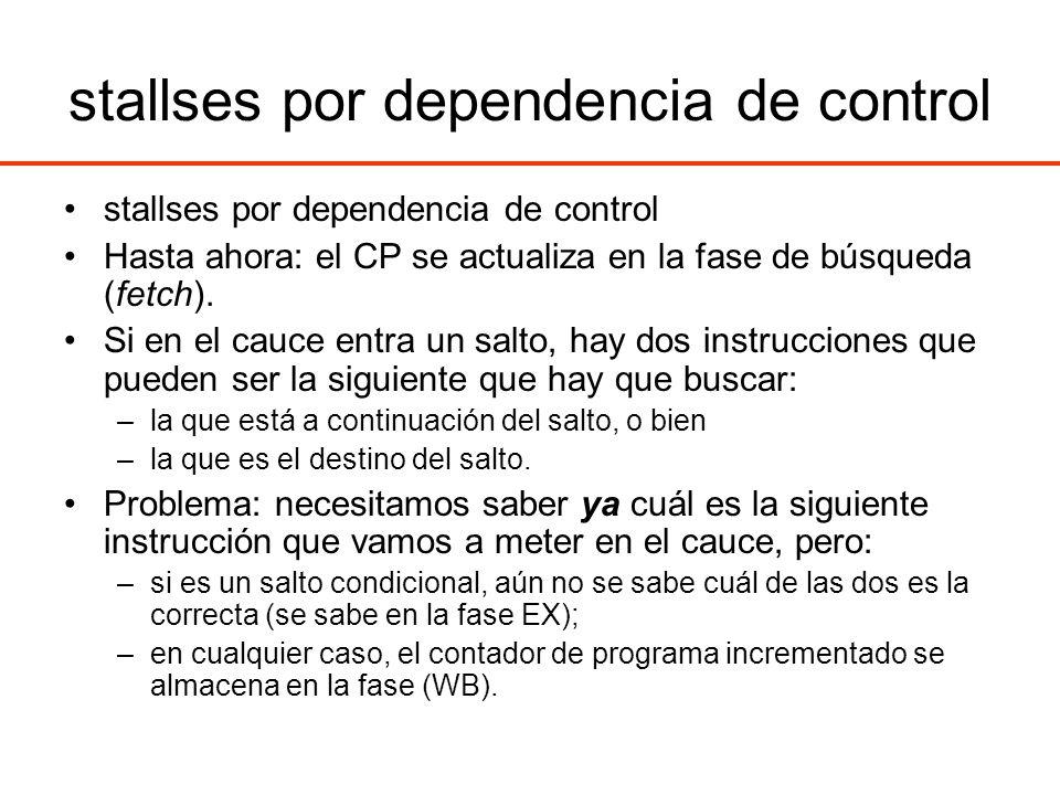 stallses por dependencia de control