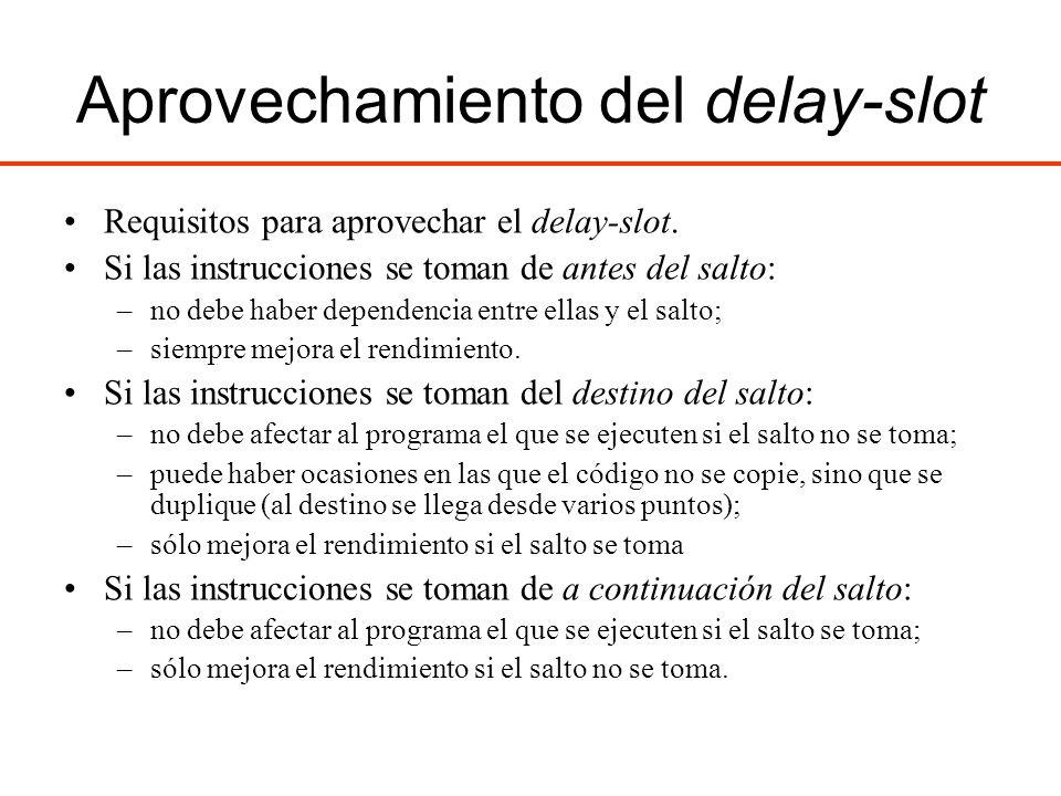 Aprovechamiento del delay-slot