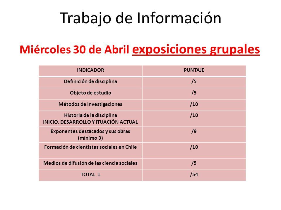 Trabajo de Información