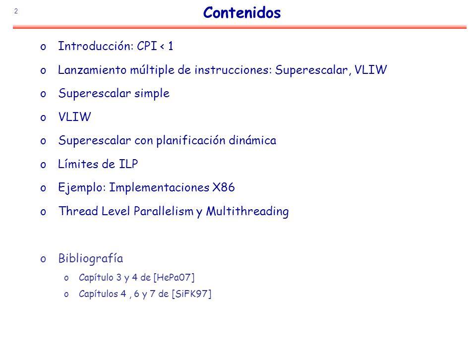 Contenidos Introducción: CPI < 1