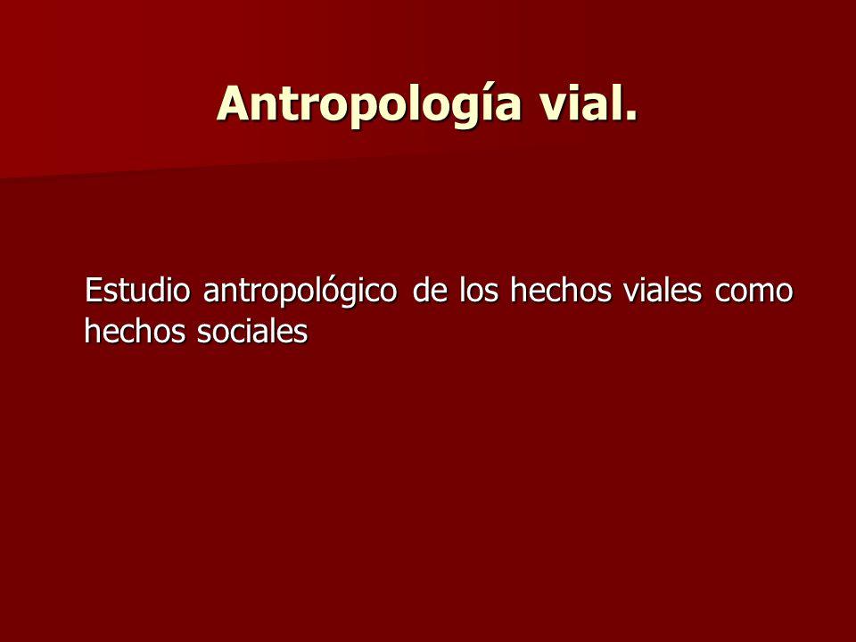 Antropología vial. Estudio antropológico de los hechos viales como hechos sociales