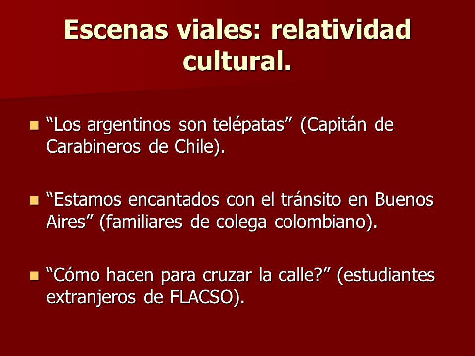 Escenas viales: relatividad cultural.