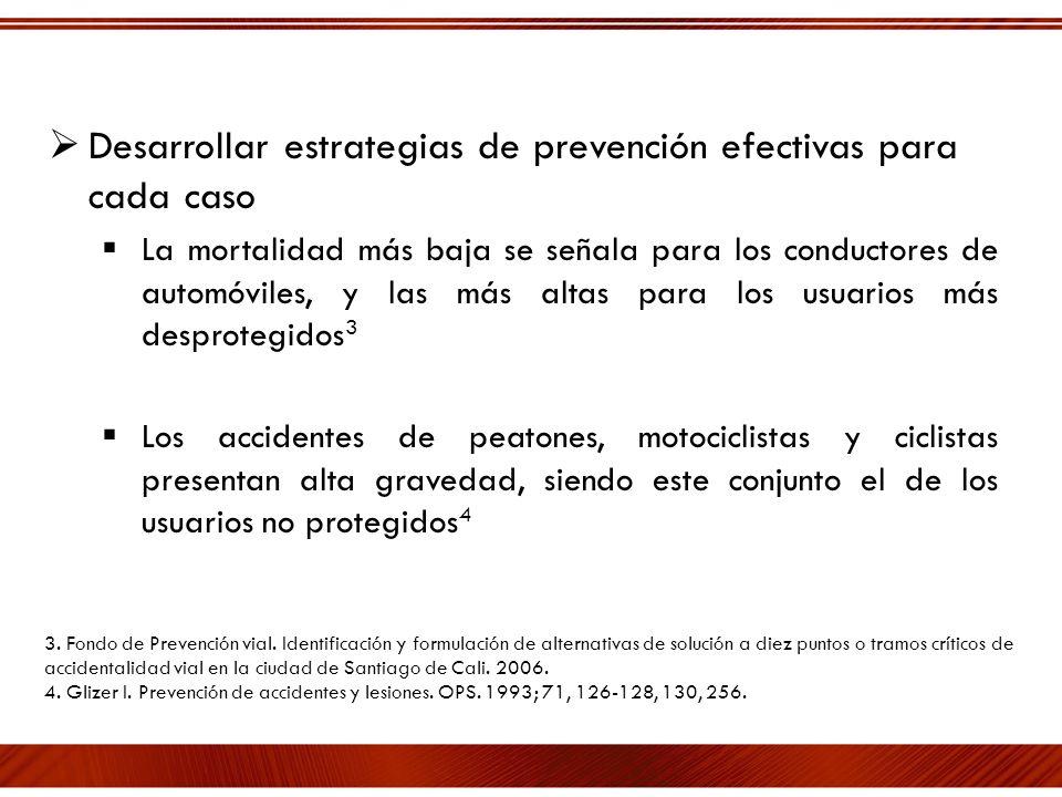 Desarrollar estrategias de prevención efectivas para cada caso