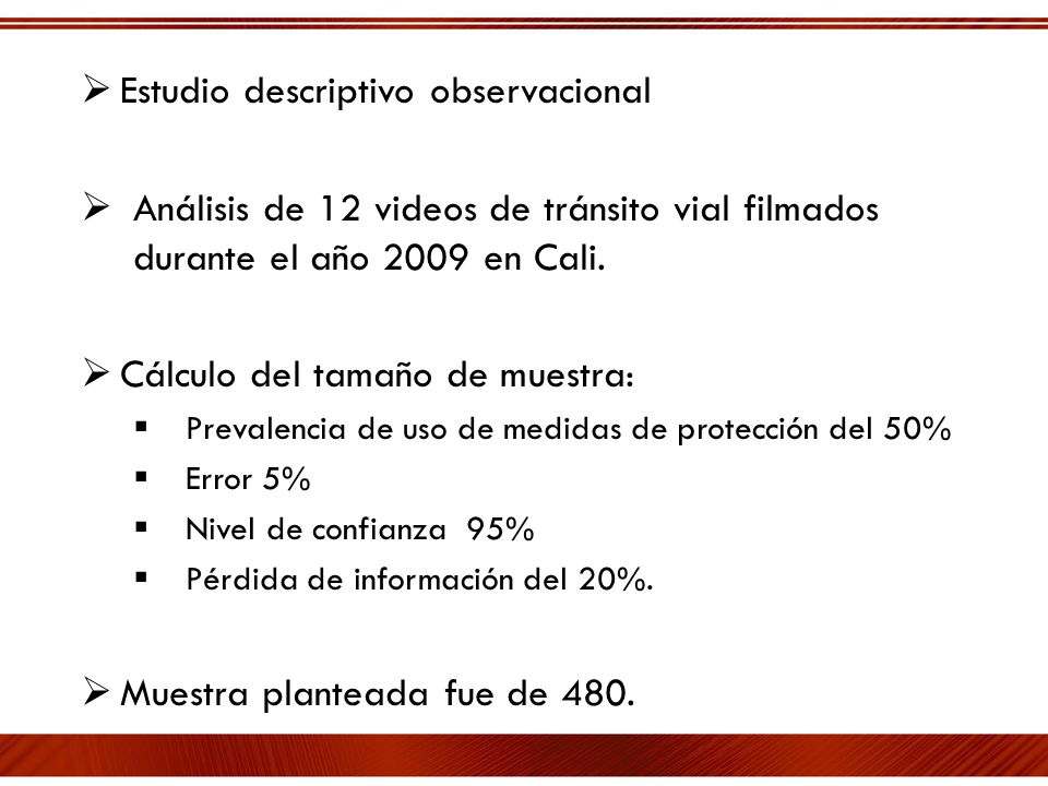 Estudio descriptivo observacional