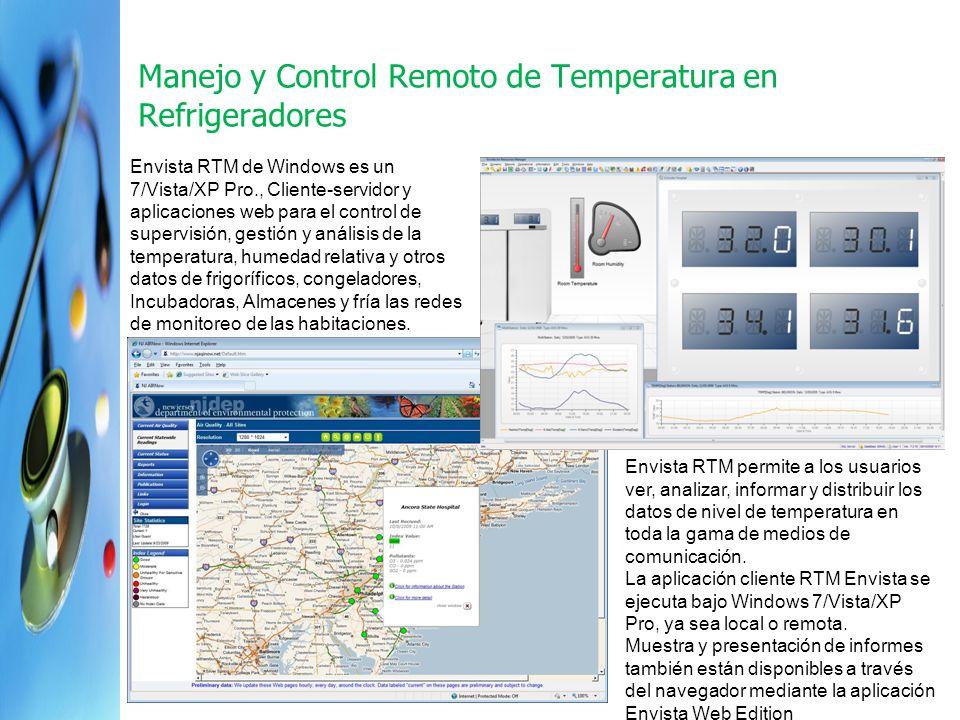 Manejo y Control Remoto de Temperatura en Refrigeradores