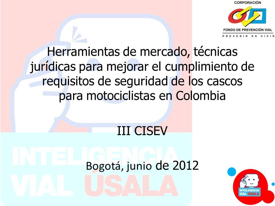Herramientas de mercado, técnicas jurídicas para mejorar el cumplimiento de requisitos de seguridad de los cascos para motociclistas en Colombia