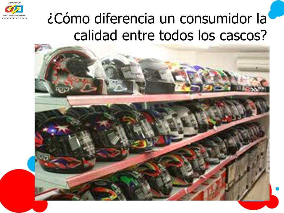¿Cómo diferencia un consumidor la calidad entre todos los cascos