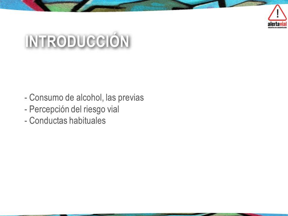 - Consumo de alcohol, las previas