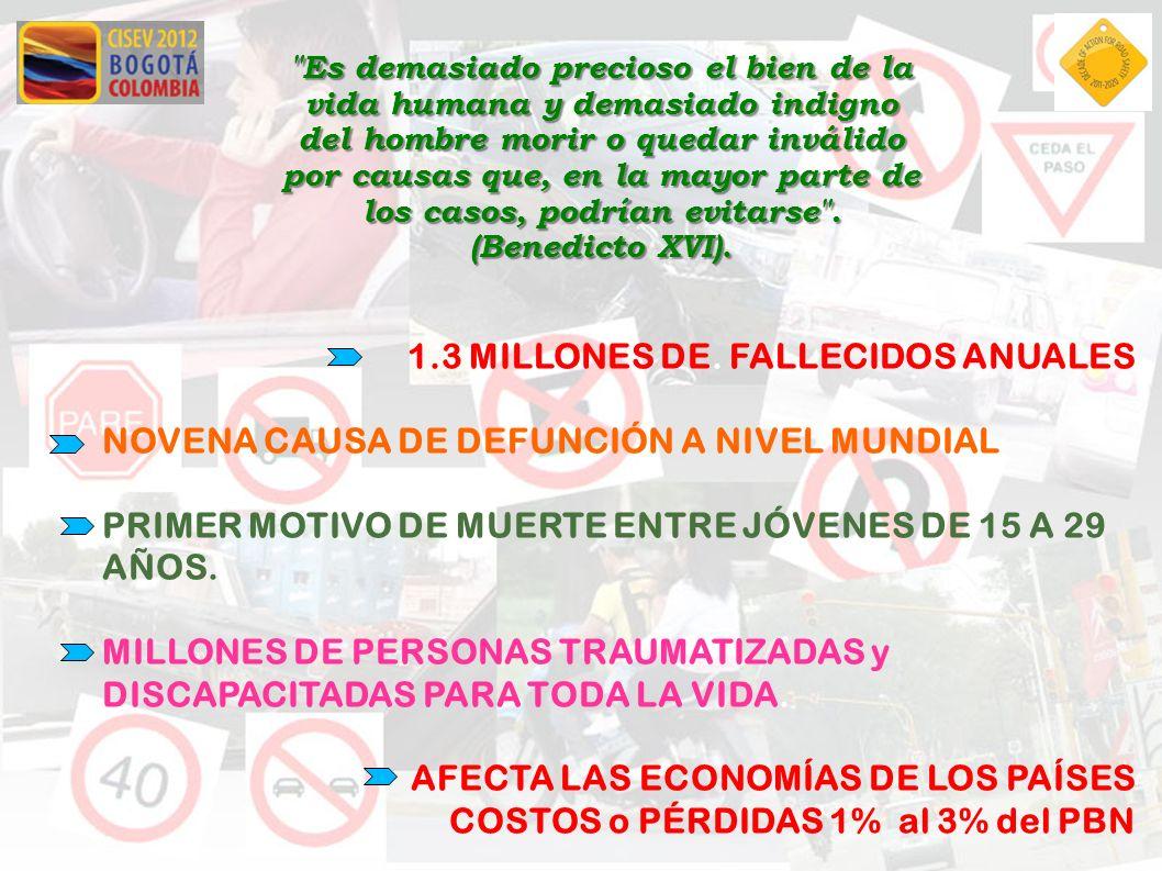 1.3 MILLONES DE. FALLECIDOS ANUALES