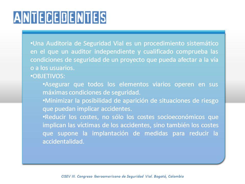 CISEV III. Congreso Iberoamericano de Seguridad Vial. Bogotá, Colombia