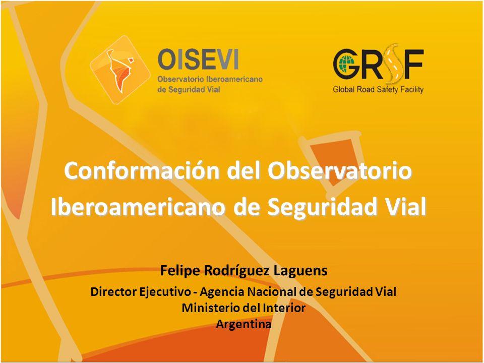 Conformación del Observatorio Iberoamericano de Seguridad Vial
