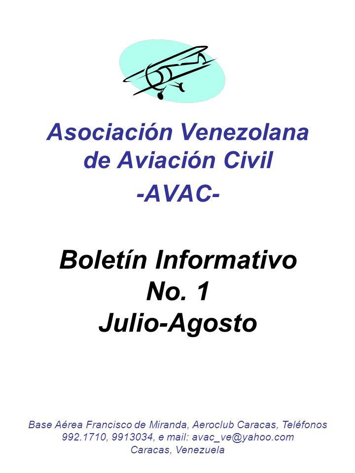 Asociación Venezolana de Aviación Civil -AVAC- Boletín Informativo No