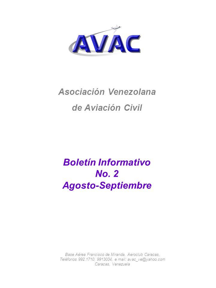 Asociación Venezolana de Aviación Civil Boletín Informativo No