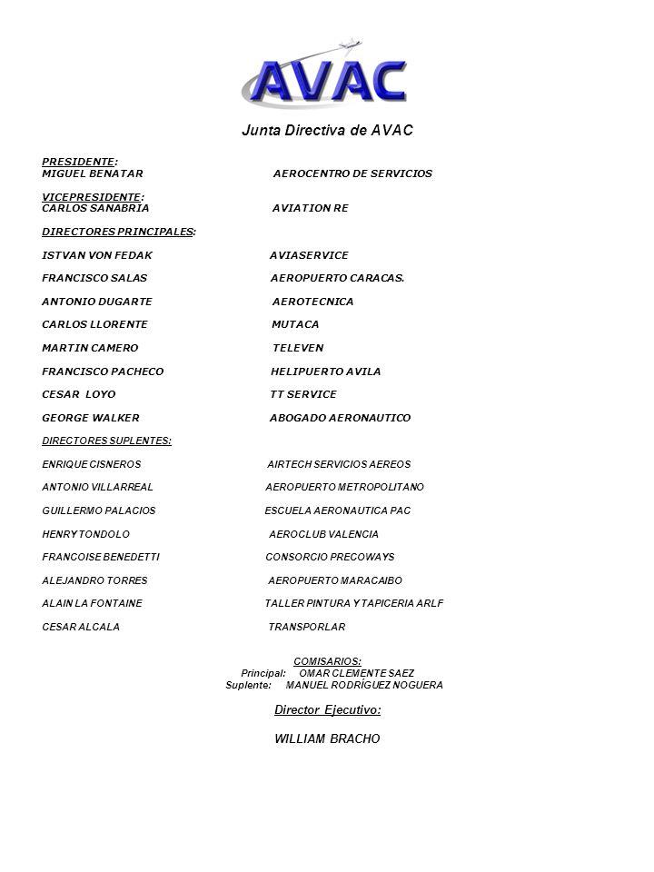 Junta Directiva de AVAC