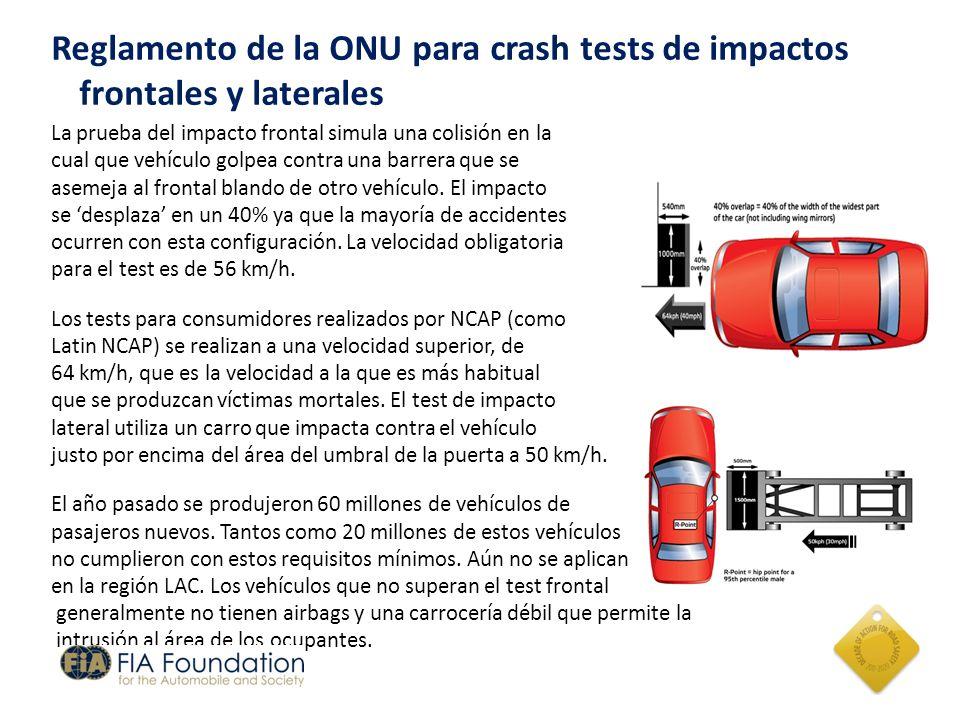 Reglamento de la ONU para crash tests de impactos frontales y laterales