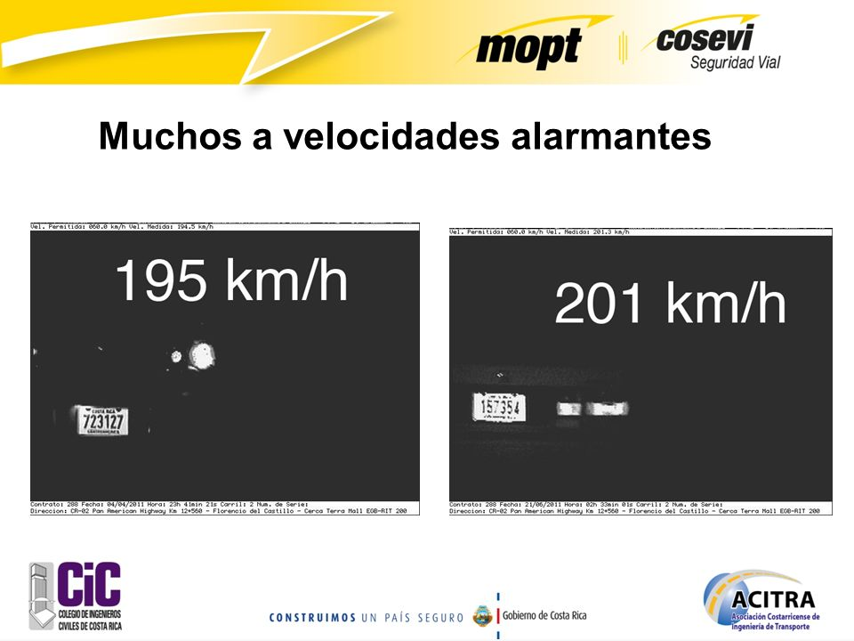 Muchos a velocidades alarmantes