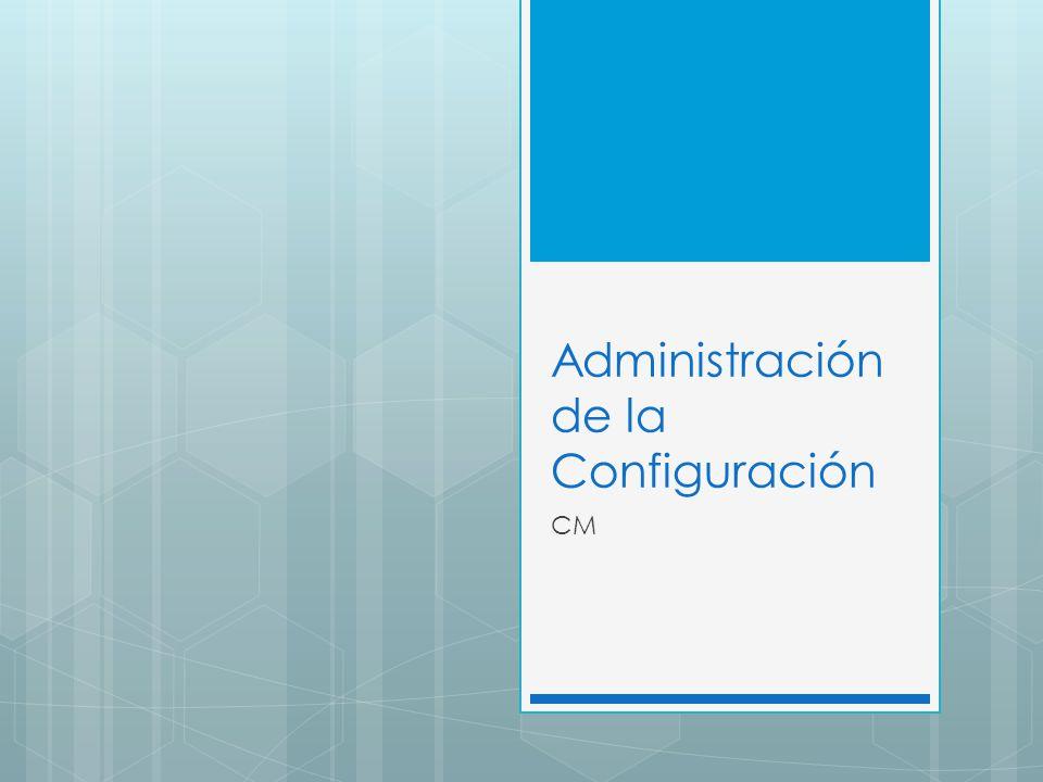 Administración de la Configuración