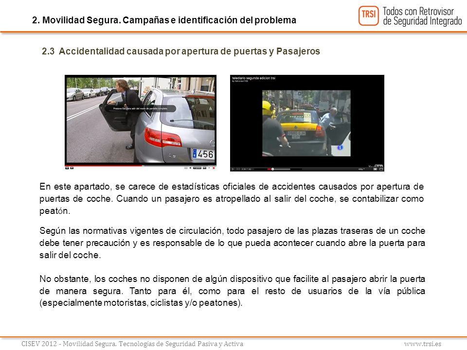 2. Movilidad Segura. Campañas e identificación del problema